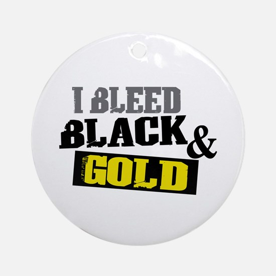 Bleed Black and Gold Ornament (Round)