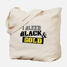 Bleed Black and Gold Tote Bag
