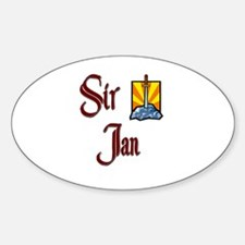 Sir Jan Oval Decal