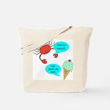 Cute Crab lover Tote Bag
