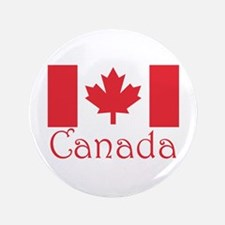 "Canadian flag 3.5"" Button"