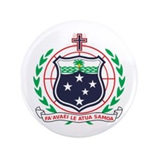 "Samoa Coat of Arms 3.5"" Button"