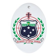 Samoa Coat of Arms Oval Ornament