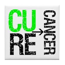 Cure (Lymphoma) Cancer Tile Coaster