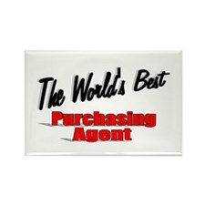 """""""The World's Best Purchasing Agent"""" Rectangle Magn"""