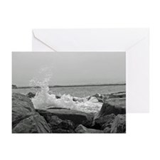 Lazy waves II Greeting Cards (Pk of 10)
