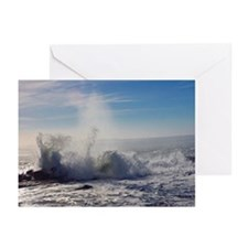 Wave Crashing (color) Greeting Cards (Pk of 10)