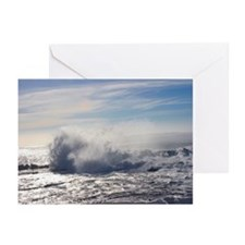 Waves Crashing III (color) Greeting Cards