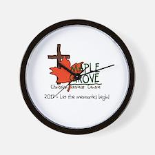 Unique Maple grove Wall Clock