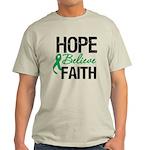 HopeBelieveFaith LiverCancer Light T-Shirt