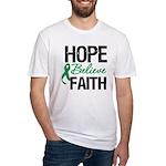 HopeBelieveFaith LiverCancer Fitted T-Shirt
