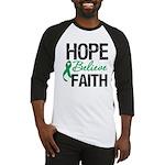 HopeBelieveFaith LiverCancer Baseball Jersey