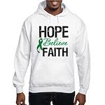 HopeBelieveFaith LiverCancer Hooded Sweatshirt