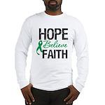 HopeBelieveFaith LiverCancer Long Sleeve T-Shirt