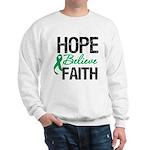 HopeBelieveFaith LiverCancer Sweatshirt