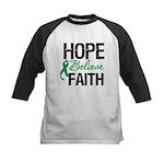 HopeBelieveFaith LiverCancer Kids Baseball Jersey