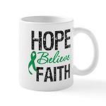 HopeBelieveFaith LiverCancer Mug