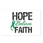 HopeBelieveFaith LiverCancer Postcards (Package of