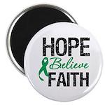 HopeBelieveFaith LiverCancer Magnet