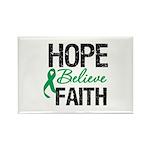 HopeBelieveFaith LiverCancer Rectangle Magnet (10