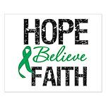 HopeBelieveFaith LiverCancer Small Poster