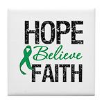 HopeBelieveFaith LiverCancer Tile Coaster