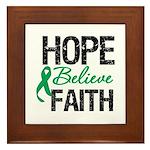 HopeBelieveFaith LiverCancer Framed Tile