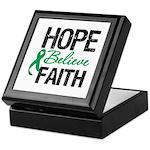 HopeBelieveFaith LiverCancer Keepsake Box