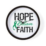 HopeBelieveFaith LiverCancer Wall Clock