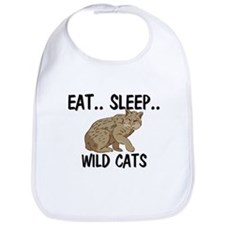 Eat ... Sleep ... WILD CATS Bib