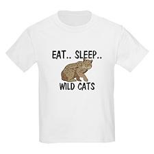 Eat ... Sleep ... WILD CATS Kids Light T-Shirt