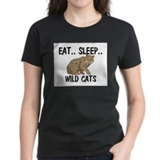 Eat ... Sleep ... WILD CATS Women's Dark T-Shirt