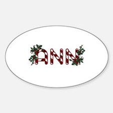 Candy Cane Name: ANN Oval Decal