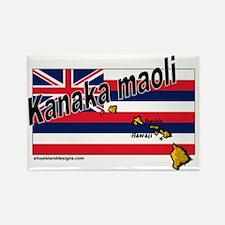 Kanaka maoli Rectangle Magnet