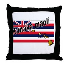 Kanaka maoli Throw Pillow