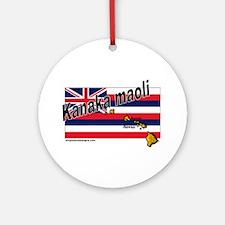 Kanaka maoli Ornament (Round)