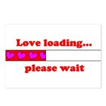 LOVE LOADING...PLEASE WAIT Postcards (Package of 8