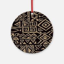 Polynesain print 2 Ornament (Round)