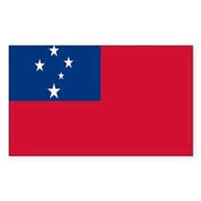 SAMOAN FLAG Rectangle Decal
