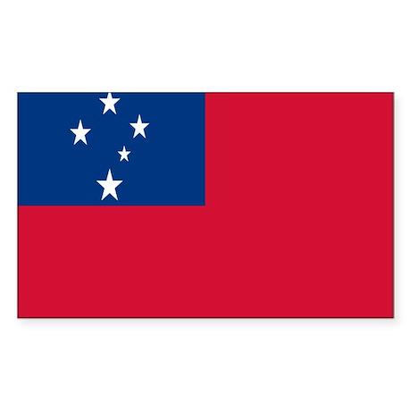 SAMOAN FLAG Rectangle Sticker