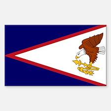 AMERICAN SAMOA FLAG Rectangle Decal