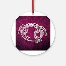Polynesian print 3 Ornament (Round)