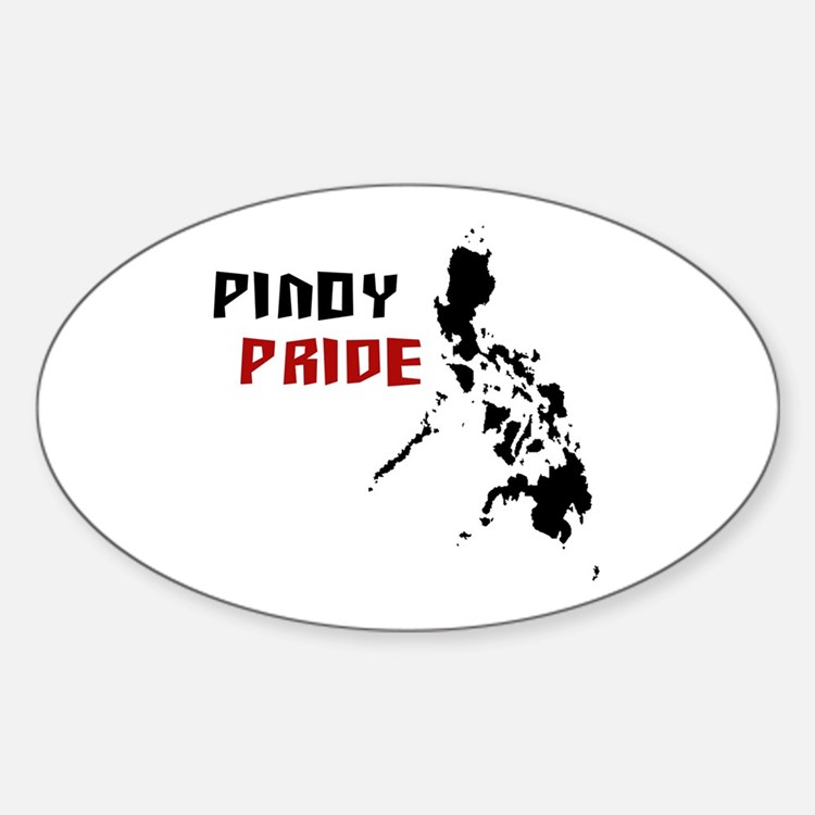 Pinoy Pride - back Oval Decal