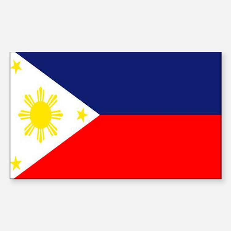 PHILIPPINE ISLAND FLAG Rectangle Decal