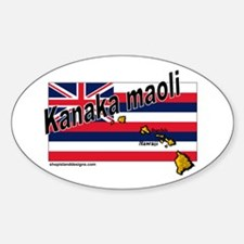 Kanaka maoli - Full Blooded Oval Decal