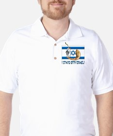 I stand with Israel 2 Golf Shirt