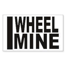 I Wheel Mine Rectangle Decal