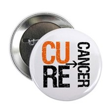 """Cure (Kidney) Cancer 2.25"""" Button"""
