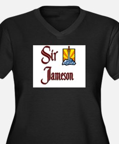 Sir Jameson Women's Plus Size V-Neck Dark T-Shirt