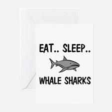 Eat ... Sleep ... WHALE SHARKS Greeting Cards (Pk